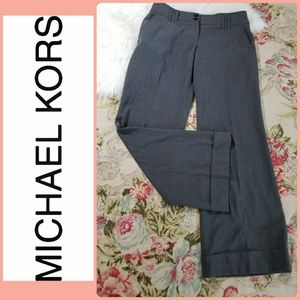 MICHEAL KORS GREY WIDE LEG CUFFED TROUSER PANTS